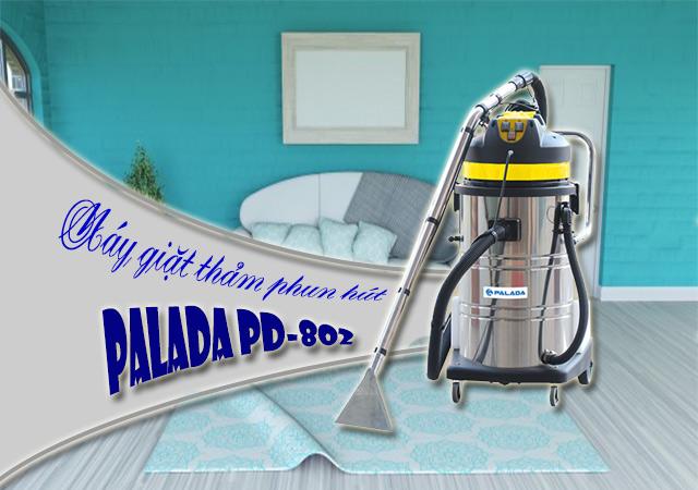 Máy giặt thảm phun hút Palada PD-802