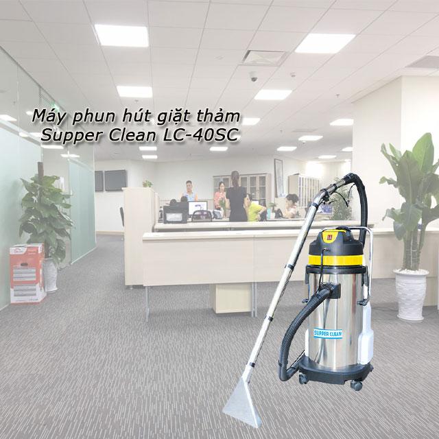 Máy phun hút giặt thảm Supper Clean LC-40SC