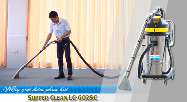 Máy giặt thảm phun hút Supper Clean LC-602SC