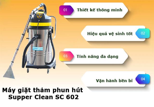 Máy giặt thảm phun hút Supper Clean SC 602