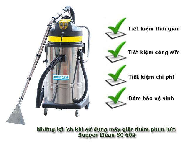 Lợi ích khi sử dụng máy hút bụi giặt thảm Supper Clean SC 602