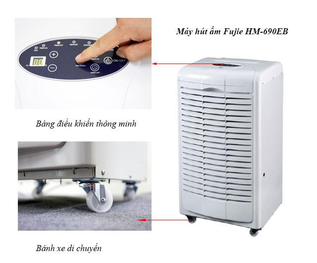 Máy hút ẩm Fujie HM-690EB có thiết kế thông minh