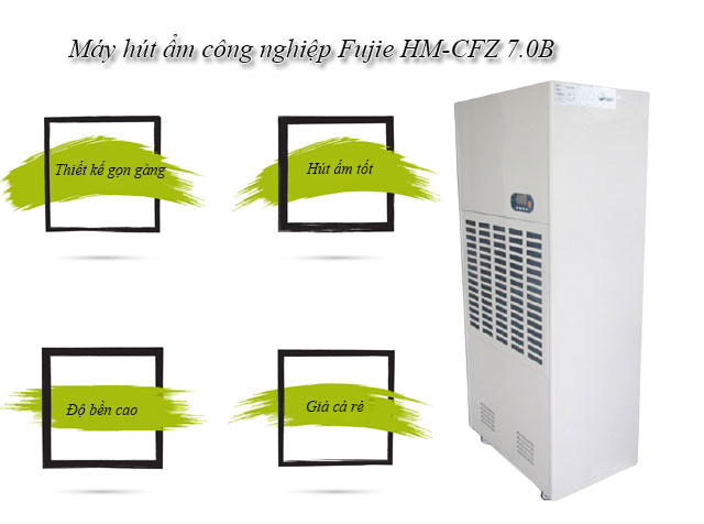Máy hút ẩm công nghiệp Fujie HM-CFZ 7.0B giá rẻ
