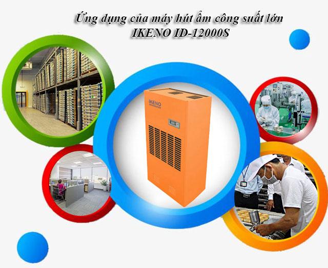 Ứng dụng của máy hút ẩm công suất lớn IKENO ID-12000S