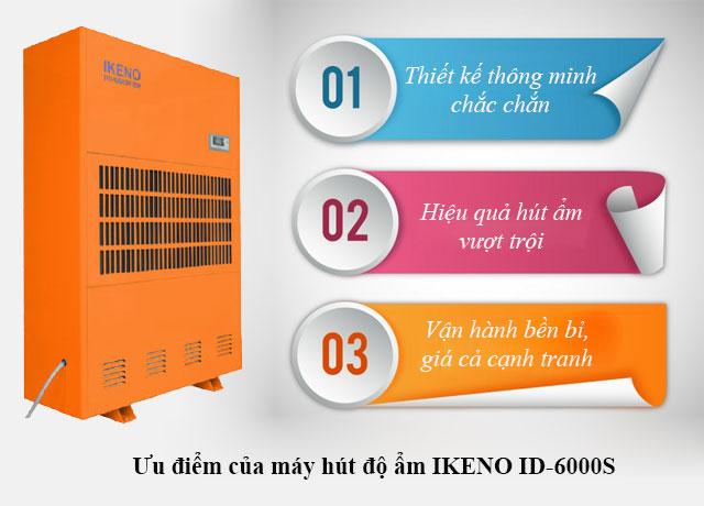 Ưu điểm của máy hút độ ẩm IKENO ID-6000S