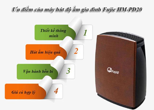 Ưu điểm của máy hút độ ẩm gia đình Fujie HM-PD20