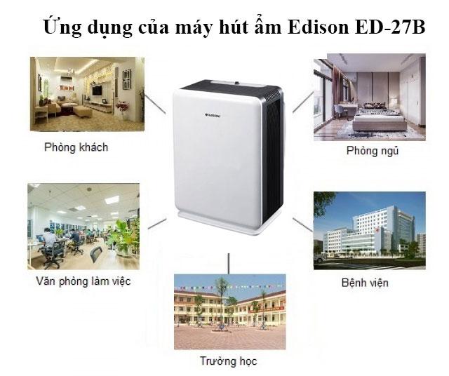 máy hút ẩm không khí Edison ED-27B