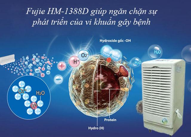 Fujie HM-1388D giúp mang lại bầu không khi trong lành cho mọi không gian