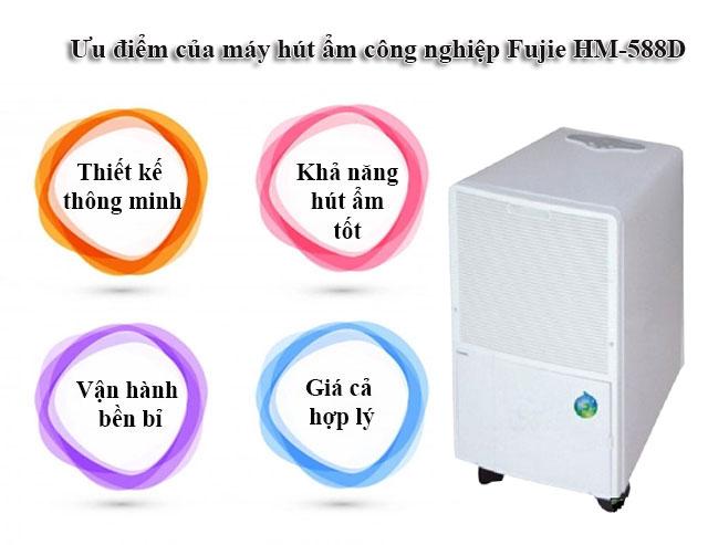Ưu điểm của máy hút độ ẩm Fujie HM-588D