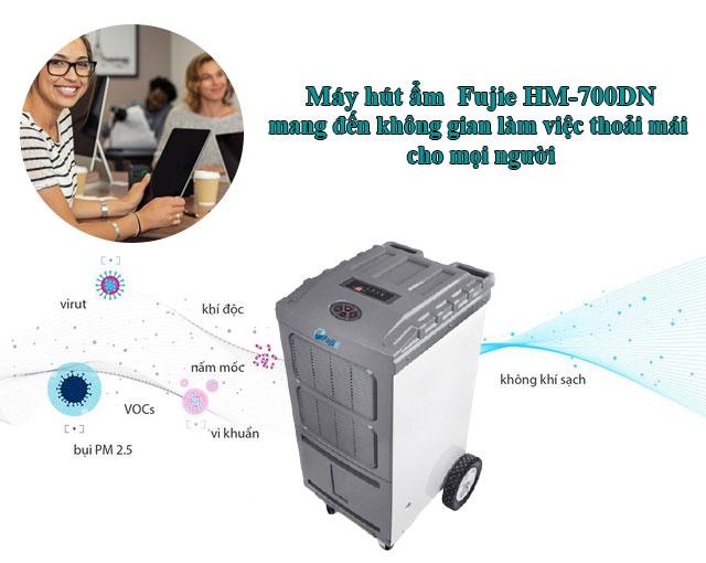máy hút ẩm công suất lớn Fujie HM-700DN