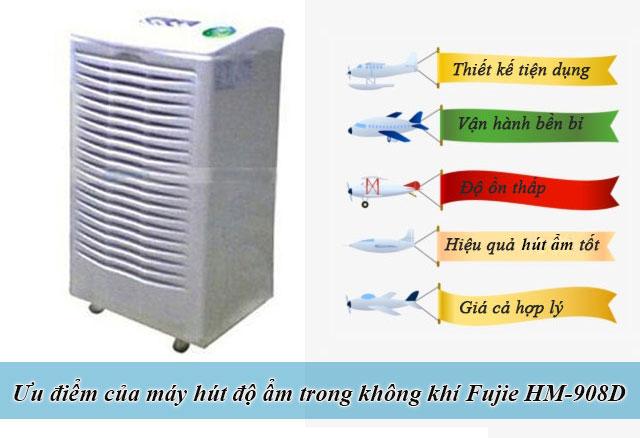 máy hút độ ẩm trong không khí Fujie HM-908D