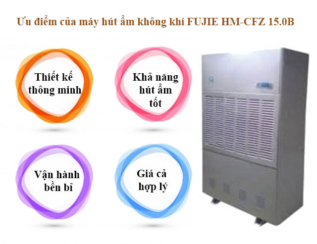 Ưu điểm máy hút ẩm FUJIE HM-CFZ 15.0B