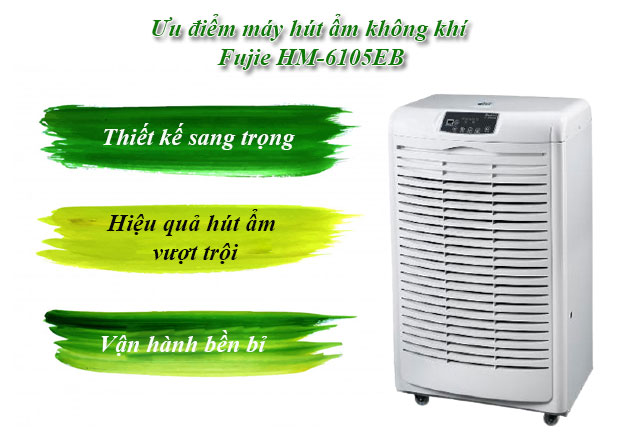 máy hút ẩm không khí Fujie HM-6105EB