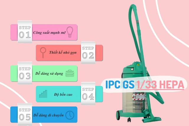 Những đặc điểm nổi bật của Máy hút bụi cho phòng sạch IPC GS 1/33 HEPA