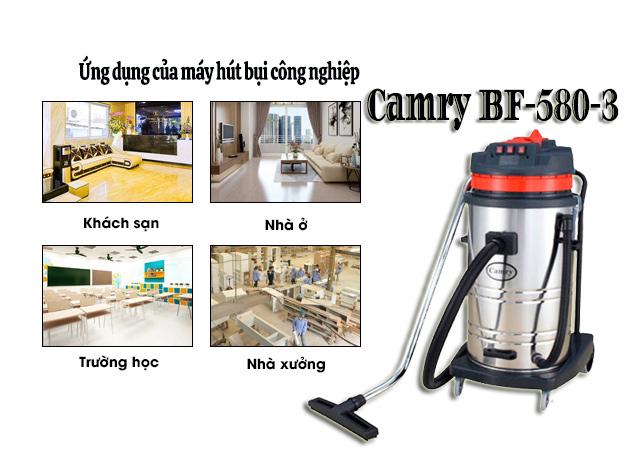 Ứng dụng của máy hút bụi công nghiệp Camry BF-580-3