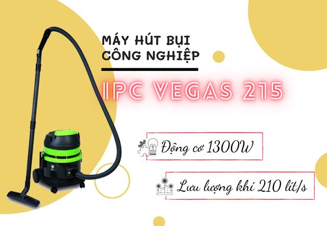 Máy hút bụi công nghiệp IPC Vegas 215 mang đến tiện ích tối ưu cho các diện tích vừa và nhỏ