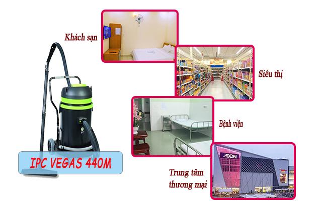 Máy hút bụi IPC Vegas 440M được ứng dụng rộng rãi tại nhiều không gian khác nhau