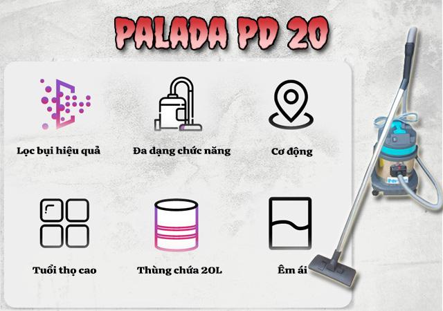 Máy hút bụi công nghiệp Palada PD 20