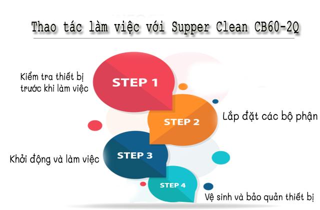 Các thao tác làm việc với Supper Clean CB60-2Q