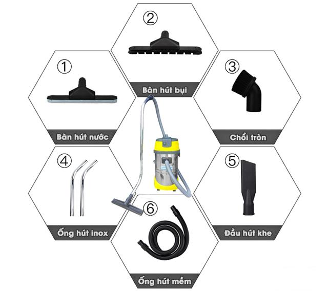 Các phụ kiện hỗ trợ CH30H trong quá trình làm việc