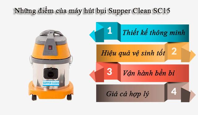 Những điểm nổi trội thu hút khách hàng của Supper Clean SC15