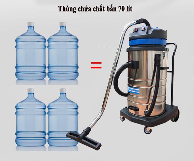 Thùng chứa 70 lít đáp ứng nhu cầu vệ sinh tại các diện tích rộng