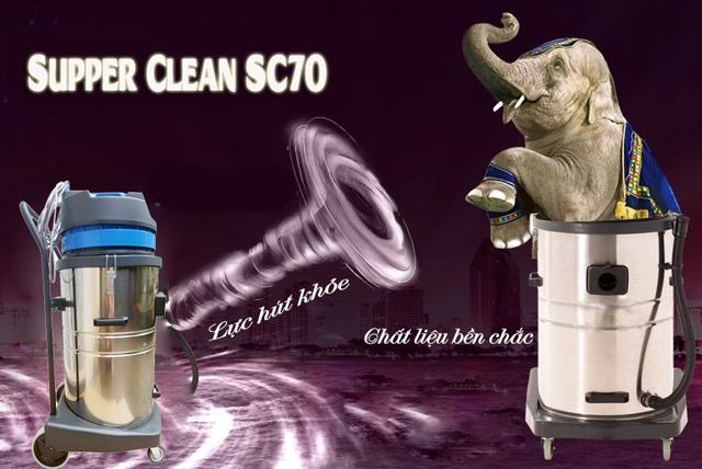 Máy hút bụi công nghiệp Supper Clean SC70 với nhiều ưu điểm nổi bật về cấu tạo