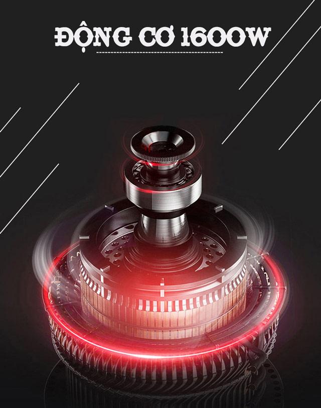 Động cơ lõi dây quấn đồng có khả năng hút bụi khô, hút nước hiệu quả