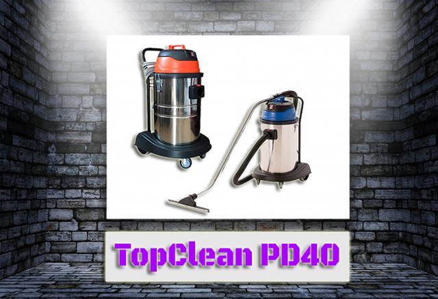 Thiết kế của máy hút bụi công nghiệp TopClean PD40 đơn giản, nhỏ gọn