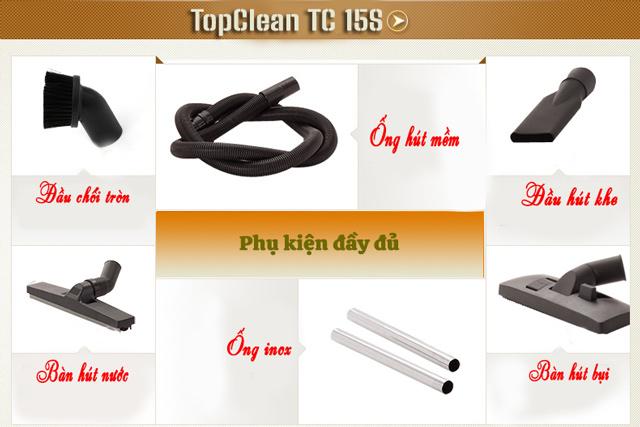 Phụ kiện của máy hút bụi TopClean TC 15S