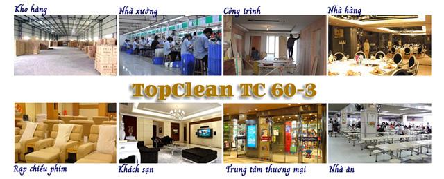 TopClean TC 60-3 được ứng dụng rộng rãi trong nhiều lĩnh vực