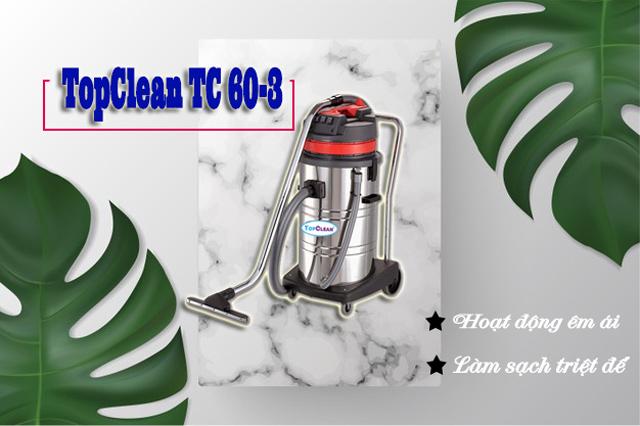 Model máy hút bụi công nghiệp TopClean TC 60-3