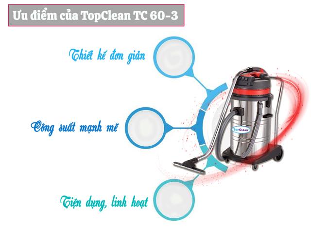Ưu điểm khi sử dụng TopClean TC 60-3 cho việc vệ sinh, làm sạch
