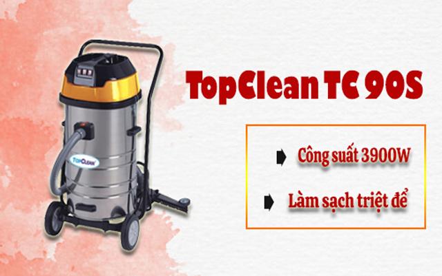 Model máy hút bụi công suất lớn TopClean TC 90S (3 motor)