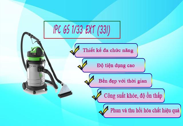 Ưu điểm vượt trội của máy hút bụi giặt thảm IPC GS 1/33 EXT (33 lít)