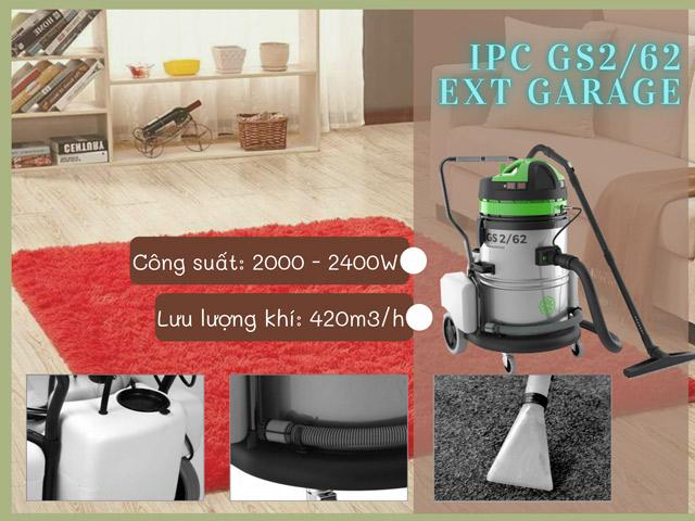 IPC GS2/62 EXT GARAGE cho hiệu quả vệ sinh thảm vượt trội