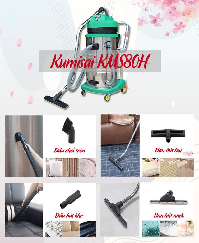 Sử dụng các bàn hút của model Kumisai KMS80H