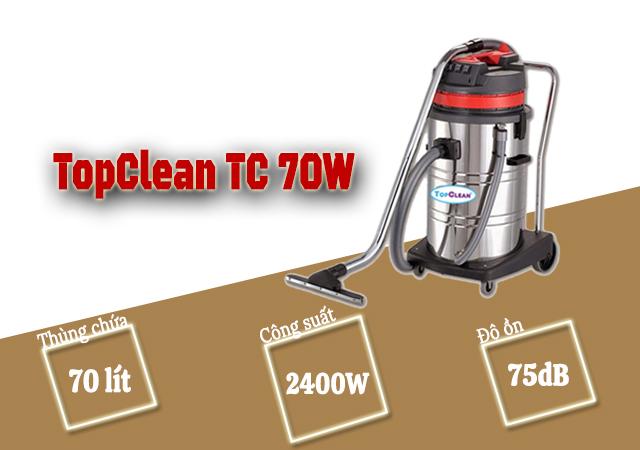 Máy hút bụi hút nước TopClean TC 70W