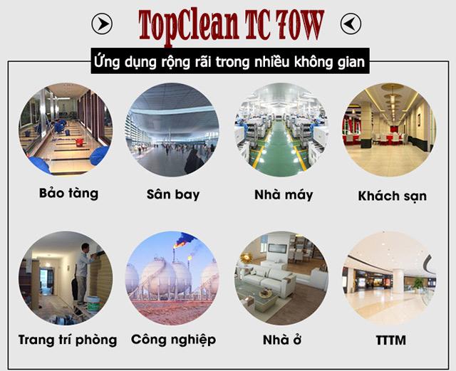 Ứng dụng rộng rãi của máy hút bụi TopClean TC 70W