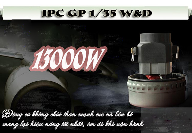 Máy hút bụi khô ướt IPC GP 1/35 W&D