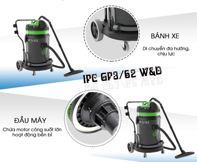 Cấu tạo của máy hút bụi khô ướt IPC GP3/62 W&D