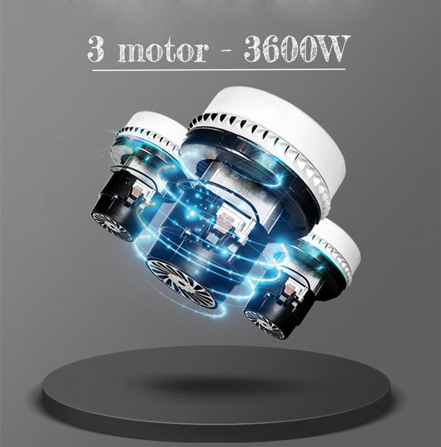 3 động cơ của IPC GS3/78 W&D có công suất mạnh mẽ