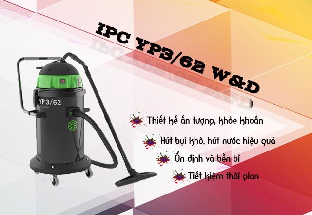 Model máy hút bụi khô ướt IPC YP3/62 W&D