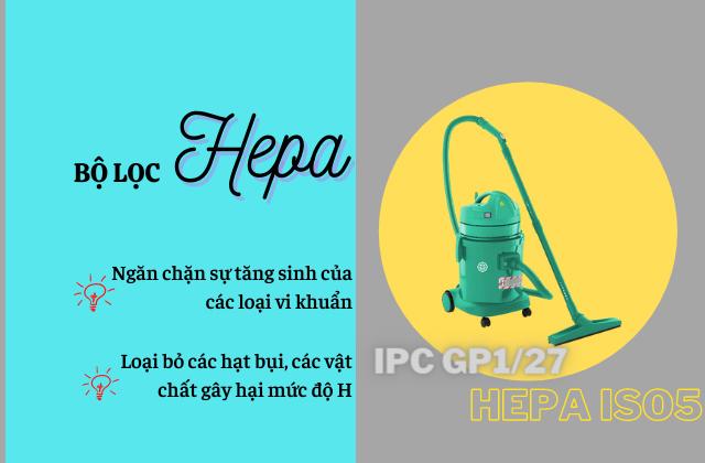 Ưu điểm nổi bật của bộ lọc Hepa của IPC GP1/27 HEPA ISO5