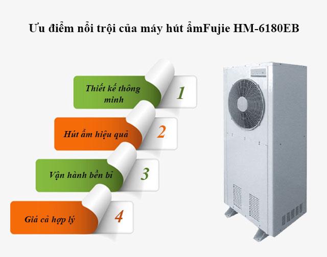Ưu điểm của máy hút độ ẩm không khí Fujie HM-6180EB