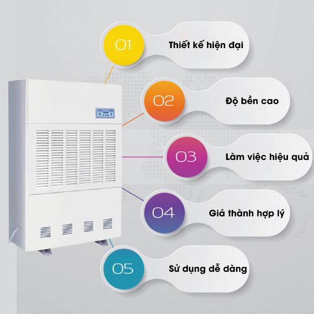 máy hút độ ẩm Fujie HM-480EB sở hữu rất nhiều ưu điểm nổi trội