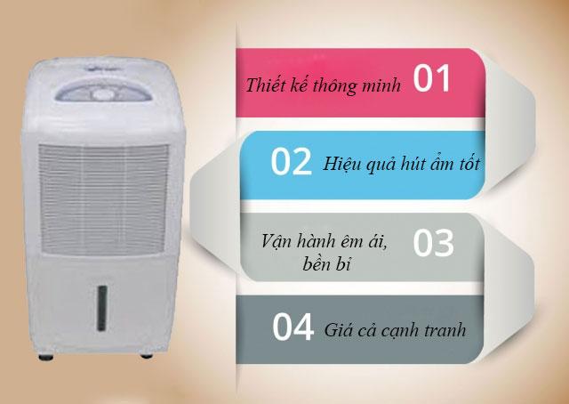 Ưu điểm của máy hút ẩm không khí Fujie HM-618EB