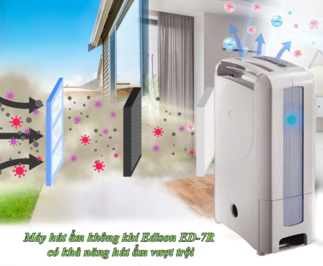 máy hút độ ẩm không khí Edison ED-7R