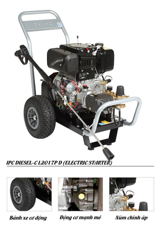 Máy phun  rửa xe nước lạnh IPC DIESEL-C L2017P D (ELECTRIC STARTER)