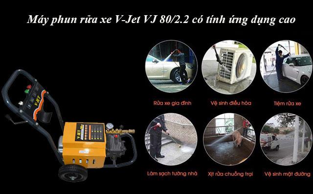 Máy phun rửa xe V-Jet VJ 80/2.2